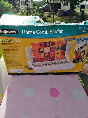 £18 • Buy Fellowes Starlet 90 Home Comb Binder Boxed Exc Cond Portable Compact Easy-to-use