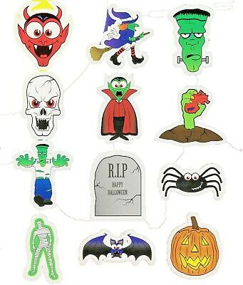 £2.76 • Buy 144 Halloween Stickers (12/Sheet) Children's Party Bag Fillers FREE 1ST CLASS