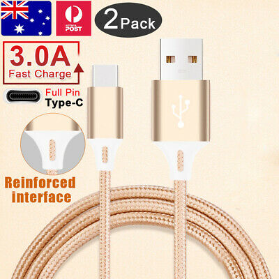 AU3.59 • Buy Fast Charging USB Type C Charger Cable For Samsung S21 S20 Ultra S10 S9 S8 Plus
