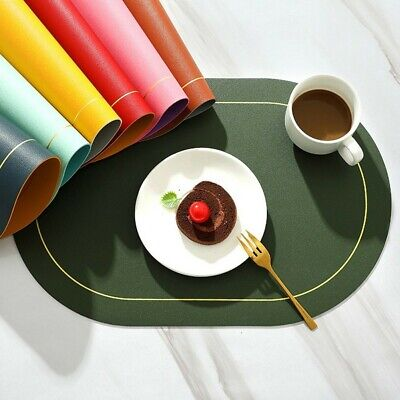 AU12.62 • Buy 45*30CM Table Mat For Dining Table Set Of 1,Washable Non-Slip Heat Resistant