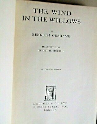 £3.49 • Buy THE WIND IN THE WILLOWS - Kenneth Grahame- HB Book-1940-Illust Ernest H Shepherd