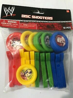 £6.50 • Buy 2012  Wwe Birthday Party Disc Shooters 12 Pack- Cena ,cm Punk, Orton, Mysterio