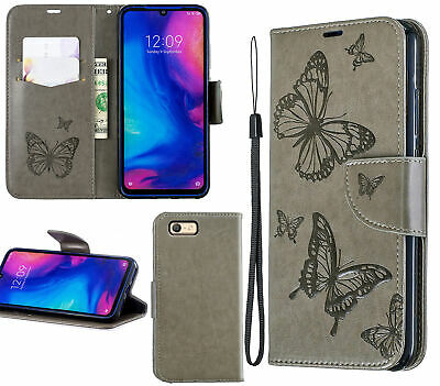 AU10.95 • Buy Oppo A39 A57 Wallet Case Embossed Pu Leather Twin Butterfly
