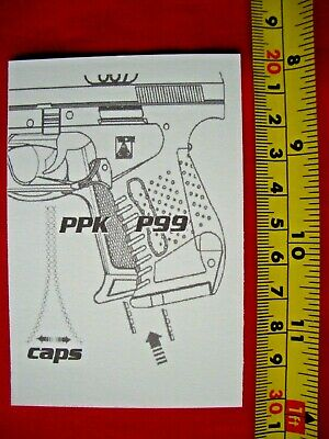 £9.99 • Buy Oo7 James Bond Lone Star Wicke Walther Ppk P99 Toy Cap Gun Instruction Card 007