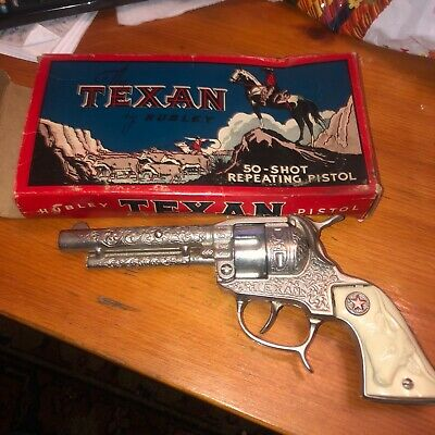 £215.71 • Buy Vintage Hubley THE TEXAN 50-Shot Repeating Pistol Toy Cap Gun With Box Near Mint