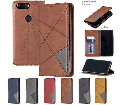 AU8.50 • Buy Oneplus 5T Pu Leather Slim Flip Case Patterned Collage Style