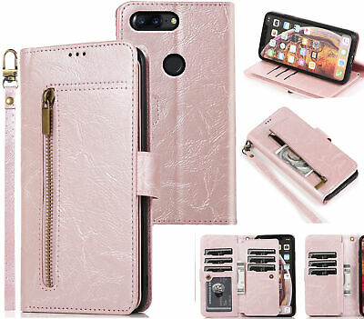 AU11.95 • Buy Oneplus 5T All In One Pu Leather Wallet Case Front Zip Lanyard