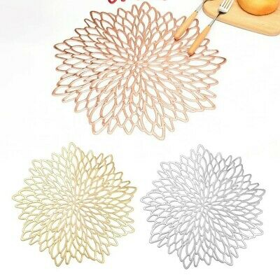 AU11.21 • Buy Placemats Table Mat Washable Dining Wedding Party Hollow Out Elegant Tea Cup Pad