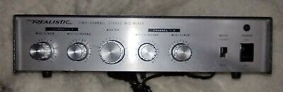 £9.22 • Buy Vintage Realistic 33-1057 2 Two-Channel Stereo Mic Mixer Radio Shack