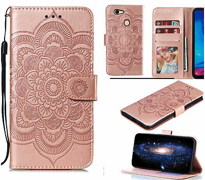 AU10.95 • Buy Oppo A73 A75 F5 Wallet Case Embossed Pu Leather Mandala