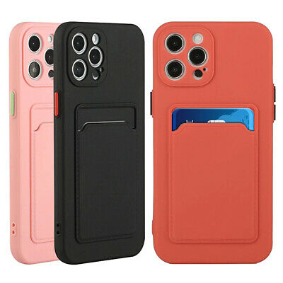 AU8.39 • Buy Shockproof Card Holder Case For IPhone 13 12 11 Pro Max X XS 7 8 Silicone Cover