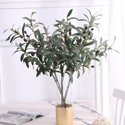 £6.89 • Buy 70cm Artificial Fake Olive Leaves Olive Tree Branches Green Leaf Plants Home#AH