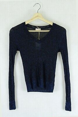 AU44 • Buy Gorman Sparkle Blue Top Sheer S By Reluv Clothing