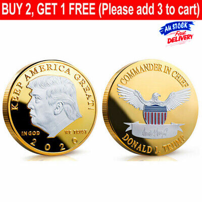 AU9.99 • Buy 2020 Donald J. Trump Of The United States Commemorative Badge Souvenir Coin Gift