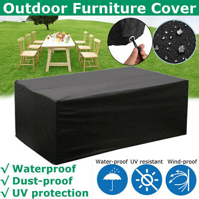 £24.49 • Buy Heavy Duty Garden Patio Furniture Table Cover For Rattan Table Cube Set Outdoor