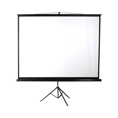 AU120.28 • Buy 100 Inch Projector Screen Tripod Stand Home Pull Down Outdoor Screens Cinema 3D