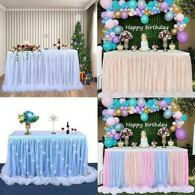 £16.54 • Buy Table Skirt Table Cloth Cover Tableware Engagement Party Wedding Decor I5H5