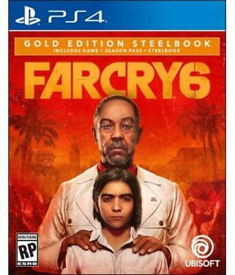 AU160.71 • Buy Far Cry 6 Gold Steelbook Edition (PS4/PS5) (PlayStation 4) (ps4ubi11042)