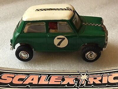 £14.99 • Buy Scalextric Classic Mini Cooper C7 In Good Condition For Age Runs Nicely 1960's!!