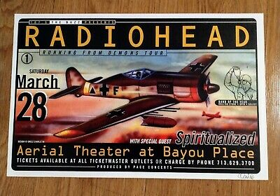 $159 • Buy Radiohead Concert Poster 1998 By Uncle Charlie