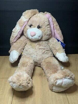 """£15.97 • Buy Build A Bear Bunny Brown Pink Ears 14"""" Soft Plush Toy With Tags"""