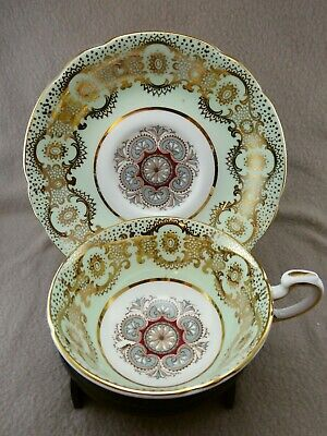 £12.99 • Buy Paragon China (By Appointment) Gilt Green & Paisley Cabinet Cup And Saucer