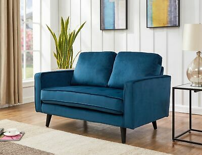 £259 • Buy Blue Velvet Sofa 2 Seater - FREE NEXT DAY DELIVERY- 5 Other Colours - Amalfi