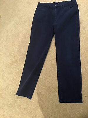£4.99 • Buy Ladies Navy Trousers M &S Size 14 Straight Leg Worn But Good