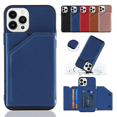 AU11.46 • Buy For IPhone 13 12 11 Pro Max XS XR 8 7+ Card Holder Wallet Case Flip Stand Cover