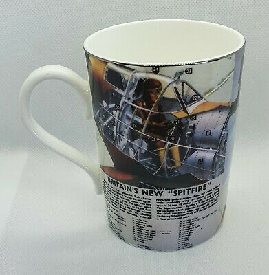 """£9.99 • Buy Past Times Britain's New Wwii """"spitfire"""" Pottery Mug"""