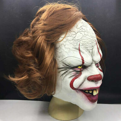 £13.99 • Buy Adult Pennywise IT Clown Mask Games Latex Scary Halloween Costume Party-Props