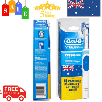 AU28.99 • Buy New Oral B Vitality Precision Clean Electric Toothbrush With 2 New Refills