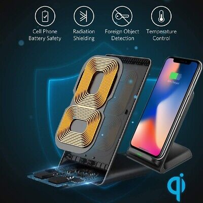 AU13.99 • Buy Fast Wireless Charger Charging Stand For Apple IPhone 11 Pro XS Max XR X 8 Plus