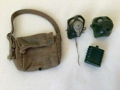 £1.35 • Buy Action Man Gas Mask Bag With Gas Masks - 1970's