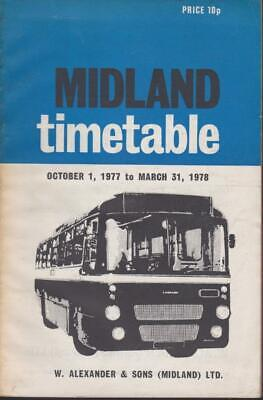 £6 • Buy Midland Scottish Smt Bus Timetable Book Oct 1977 With Route Map