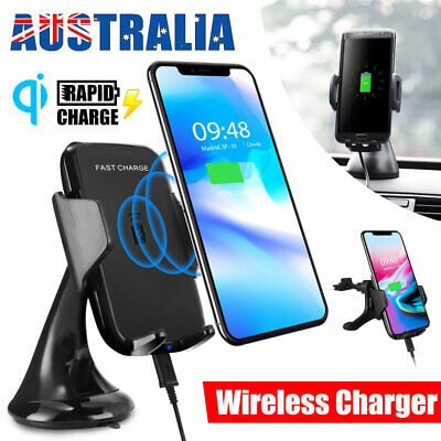 AU25.45 • Buy QI Wireless Car Charger Phone Holder Windshield Stand Mount For Samsung IPhone X