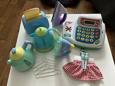 £25 • Buy Bundle 75+ Pieces Kitchen Play Toys: Food, Till, Iron, Kettle, Toaster