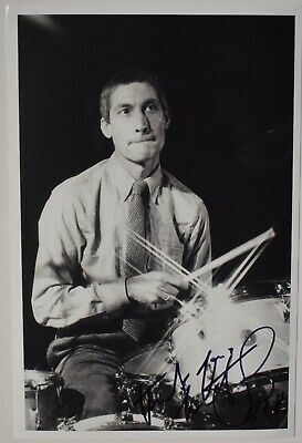 £12.05 • Buy Charlie Watts Signed 9x6 Photo Autograph Rolling Stones Music Drums AFTAL COA