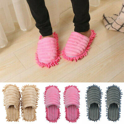 £3.95 • Buy A Pair Quick Polishing Mop Slippers Lazy Foot Socks Shoes Floor Cleaning Mops