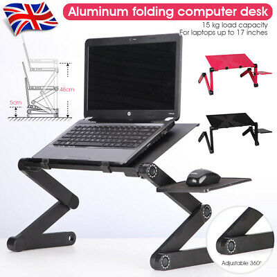 £8.98 • Buy Laptop Stand Desk Table Adjustable Folding Computer Table Portable Sofa Lap Tray