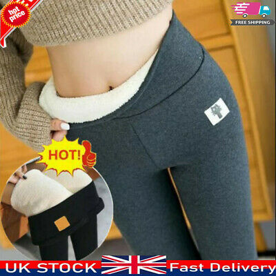 £9.99 • Buy Women Winter Thick Leggings Pants Fleece Lined Thermal Stretchy Warm Soft Xmas