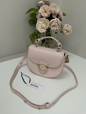 £220 • Buy Designer Aspinal Pink Leather Saddle X Body Bag BNWT RRP £395 Personalised 'MD'