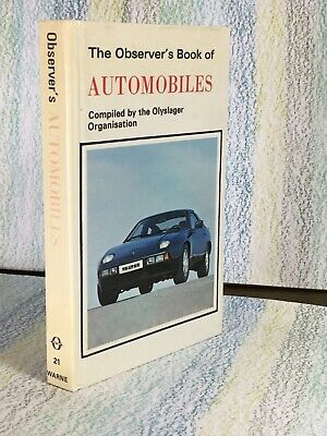 £2.50 • Buy Observer's Book Of Automobiles Laminated Very Good 1979 Olyslager Organisation