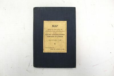 £9.38 • Buy Antique Map Of Electric Lighting & Power Companies Of London, Clothbound - B17