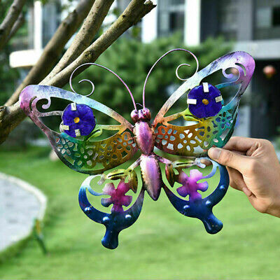 £6.49 • Buy Large Metal Butterfly Garden Decorative Wall Art Fence Sculpture Ornament Gift