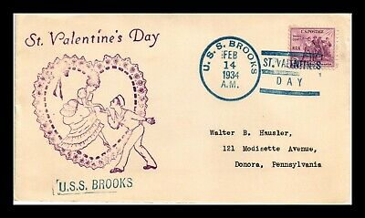 AU0.80 • Buy Dr Jim Stamps Uss Brooks St Valentines Day Naval Cancel Us Cover