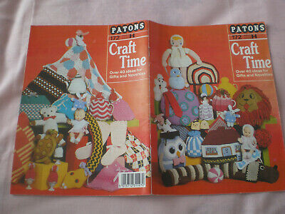 £1.50 • Buy Patons Craft Time Booklet - Over 40 Ideas For Gifts & Novelties
