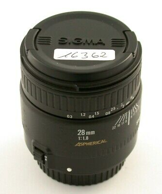 £126.39 • Buy SIGMA Canon EF EOS Analog 1,8/28 II 28 28mm F1,8 Superfast Aperture Asph. /21
