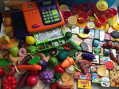 £15.95 • Buy Mega Lot Of Childrens Play Food/Cups/Saucers Etc & Till (Make Believe Role Play