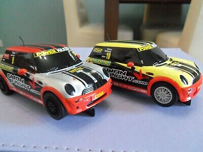 £20 • Buy Scalextric Mini Cooper X 2. Gwo With Mirrors Exhausts And Aerials !